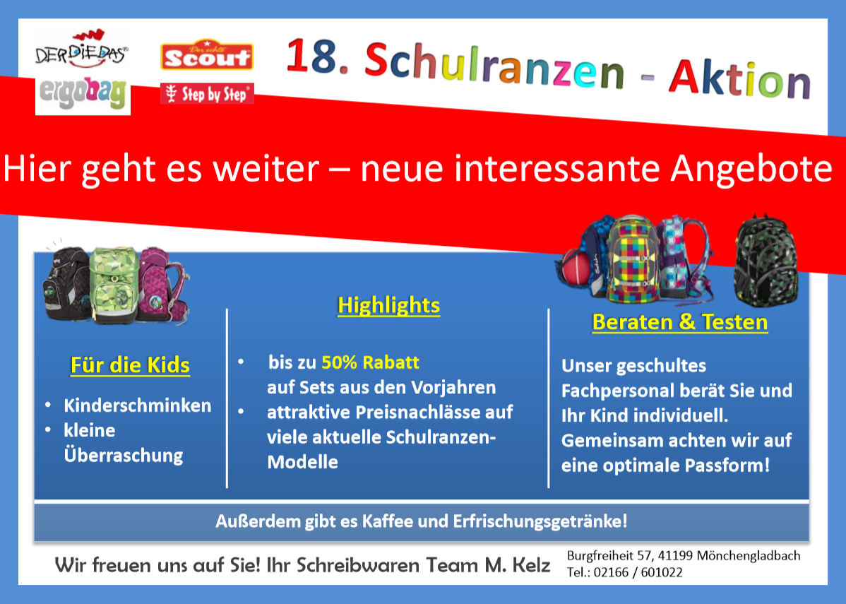flyer schulranzenaktion